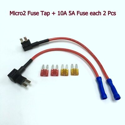 2 x FH146 APT ATR Micro2 Add-A-Circuit Tap Fuse Holder Adapter +5A 10A Fuse #gtz