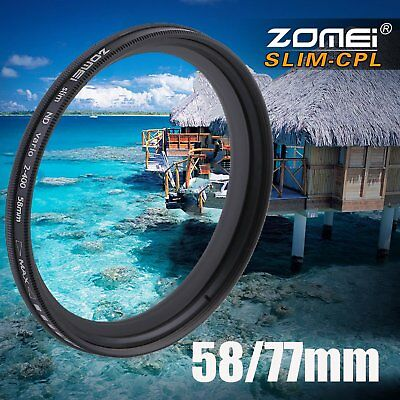 Zomei Adjustable Variable Neutral Density Filter Fader ND2-ND400 58/77mm GV}