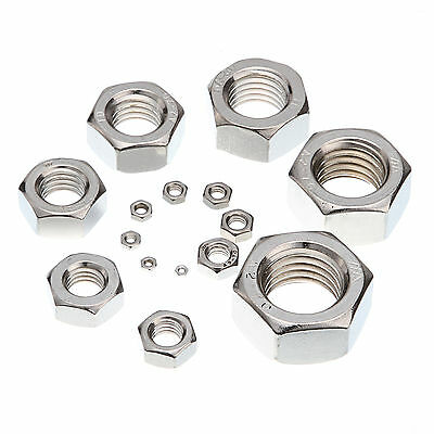 M2/2.5/3/3.5/4/5/6/8/10/12/14//20 A2 Stainless Steel Fine Pitch Hexagon Hex Nuts