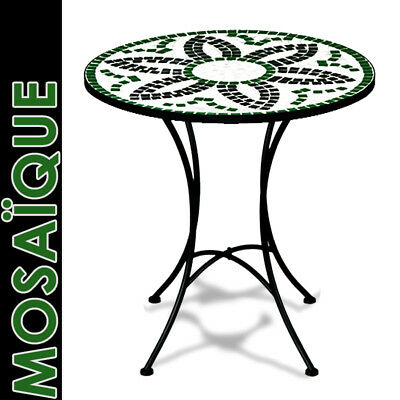 Table guéridon mosaique fer forgé design FLORA diamètre 60 cm