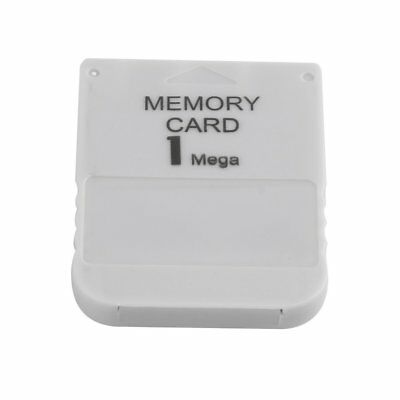 1MB Memory Card For Sony Playstation One 1 PS1 PS2 PSX White NEW