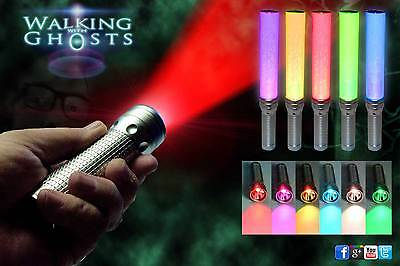 RGB Multicolour LED Flashlight Lantern Ghost Hunt Paranormal Investigation /UK