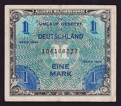 Germany Allied Occupation 1 Mark Banknote 1944 P-201a