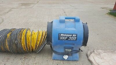 VAF-300 Heavy Duty Miniveyor Air Mover. with 7.5 meter ducting and sock.
