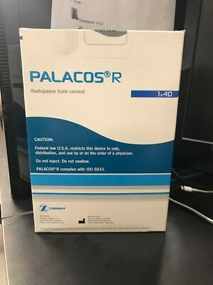 Zimmer Palacos R Radiopaque Bone Cement 1 pack Brand New!
