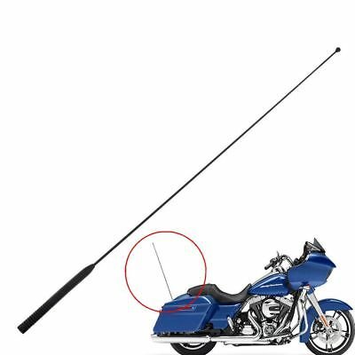 1x 33'' AM FM Antenna Radio Rubber for Harley Touring Road Street Electra Glide