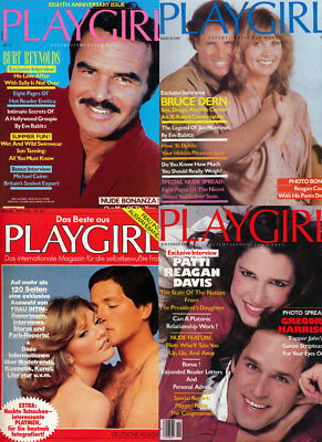 4 Gay interest magazine Playgirl Magazines 1982 vintage