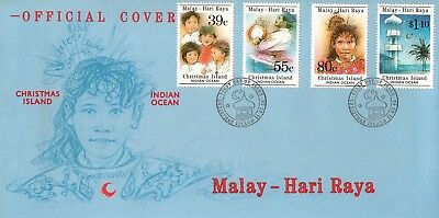L8595sbs Christmas Island First Day Cover FDC 1989 Malay Hari Raya