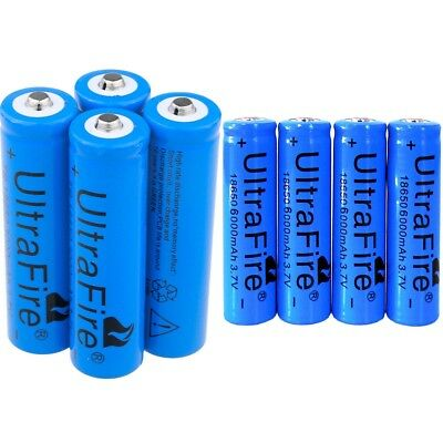 8pcs Ultrafire 18650 Battery 3.7v Li-ion Rechargeable Batteries For Torch Toy
