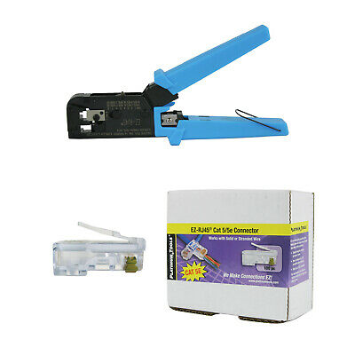 Platinum Tools 100004C EZ-RJ45 Crimper Tool, EZ-RJ45 Cat 5/5e 100 Connectors