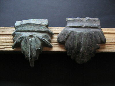 Stylized Oak Leafs Ancient Celtic Bronze Warriors Military Equipment 400-200 B.c