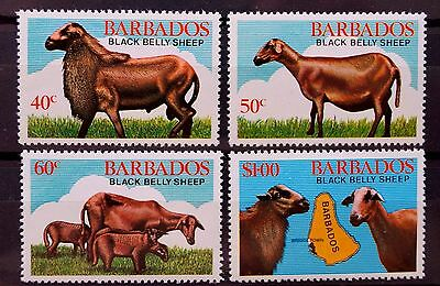 Barbados 1981-82 Festival Sheeps Hurricane Season Ships Carnival Clouds MNH