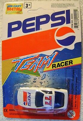 "2.5"" Pepsi Team Racer Diecast Vehicle Race Car Golden Wheel 1993 MOC"