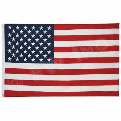 New 2' x 3' FT USA US U.S. American Flag Polyester Nylon Stars Brass Grommets