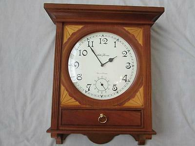 SETH THOMAS wood Westminster chime wall clock works great beautiful inlay