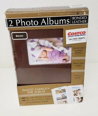 Old Town 2 Photo Albums Bonded Leather Brown 400 Photo Album