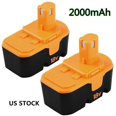 For Ryobi 18v Battery Replace ONE+P100 P102 P110 130224007 ABP1801 ABP1803-2.0Ah