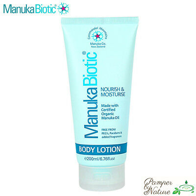 Manuka Biotic Body Lotion 200ml -  Made with Certified Organic Manuka Oil