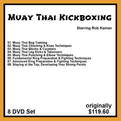 16 DVDs Smith Kaman Combined 4 Complete Sets on Muay Thai Worawoot Finot