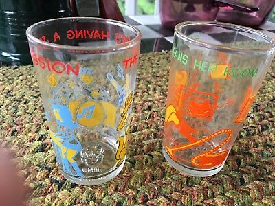 Vintage 1973 Welch's Jelly Juice Glasses THE ARCHIE COMICS Jughead Sabrina~Duo