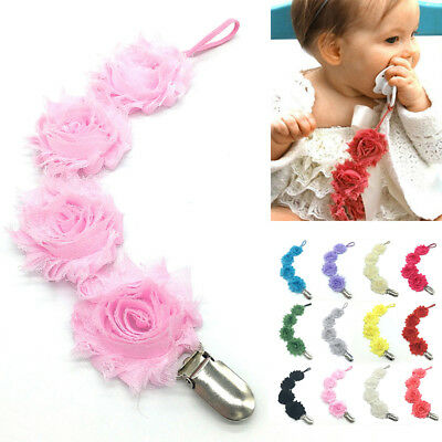 Flower Pacifier Holder Baby Safe String Hot Girls Kids Clip Soother 1pcs Dummy