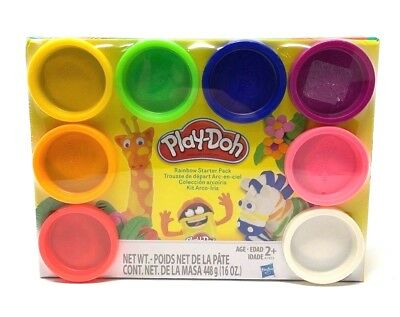 PLAY-DOH - Rainbow Starter Pack 8 Different Colors 16 Oz. New