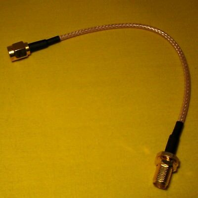 SMA female Bulkhead Pigtail Cable to SMA male 150mm Coaxial Fly Lead RG316 AC