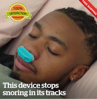 Anti Snoring Silencer 2in1 Nose Clip Device Sleep Aid Apnea Snore Air PurifiUK
