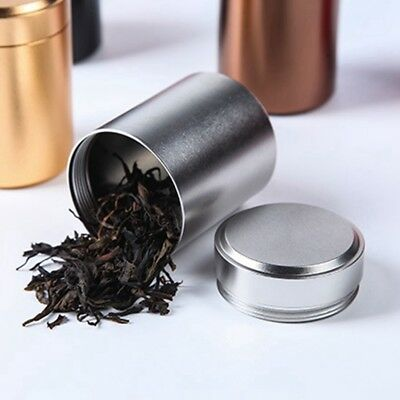 Airtight Smell Proof Container-New Aluminum Herb-Stash-Jar Portable tea can