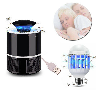Electric Fly Bug Zapper Mosquito Insect Killer Pest Control LED Light Trap Lamp