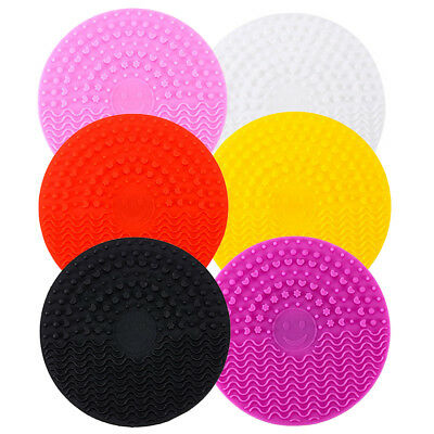Silicone Makeup Brush Cleansing Pad Mat Washing Scrubber Pad Cosmetic Cleaner