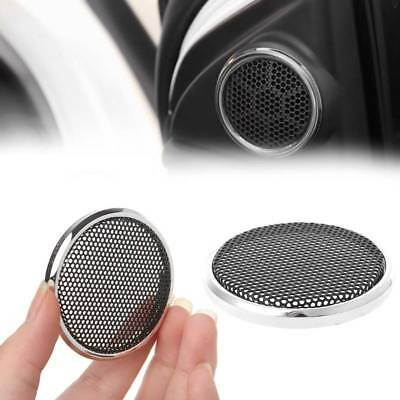 2 Pcs 50mm Round Steel Mesh Speaker Grill Protective Cover Decorative Circle