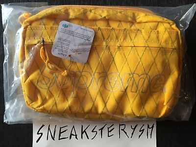 Supreme Shoulder Bag Yellow Checkered FW18 First Drop Dimension Polyant
