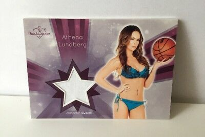 Benchwarmer Athena Lundberg Authentic Swatch Trading Card