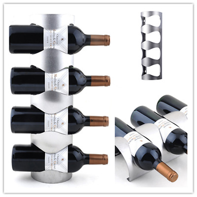 Stainless Steel Wine Rack Holders Home Bar Wall Grape Wine Bottle Display Stand