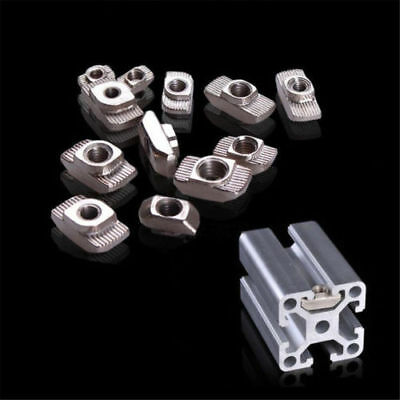 Drop in Tee t-nuts 2020 T-slot Aluminium Profile Extrusion For 3D Printer M3/4/5