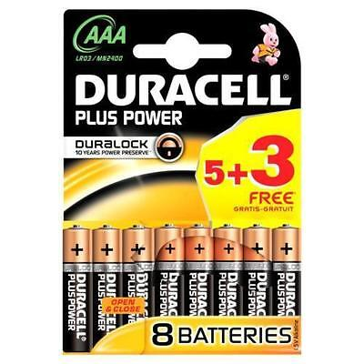 Duracell Plus Power AAA Batteries - 8 Pack