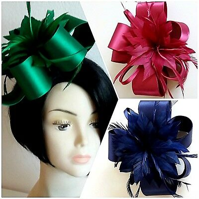 New Stunning Satin Fascinator Hair Accessory - Weddings Races  Formal Occasions