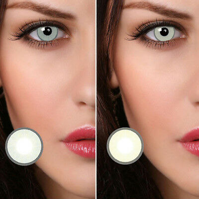 1 Pair Big Eye Charming Colored Coloured Contact Lenses Unisex Makeup Piacevole