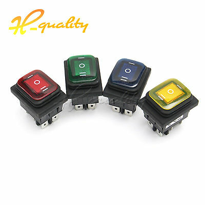 On-Off-On DC12V 6Pin Car Boat LED Light Rocker Toggle Switch Latching Waterproof
