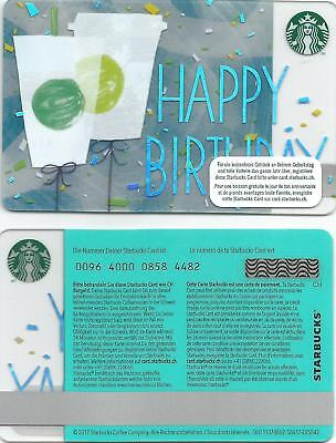 Switzerland Starbucks Card New Happy Birthday 2018 Excellent