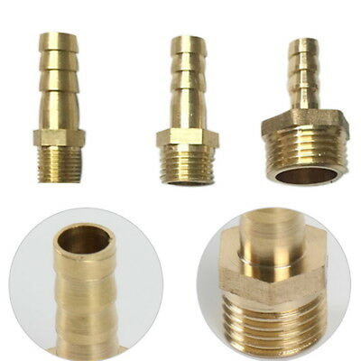 Golden Brass Pipe Fitting 4mm 6mm 8mm 10mm 12mm 19mm Hose Barb Tail Connector