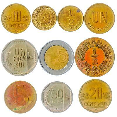 10 Coins From Philippines, South Asia Old Collectible Coins Lot Sentimos Piso