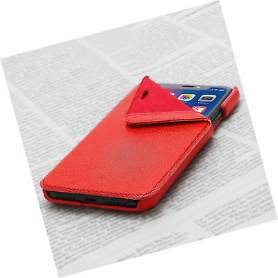 Opis Mobile X Garde Book: Klapphülle für iPhone X in Leder in rot/Flip Cover ...