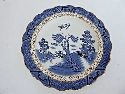 Antique Booths Real Old Willow A8025 Tea Cake Plate Gold 16 available