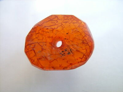 1 Ancient Celtic Amber Bead,  Celts VERY RARE!  TOP !!