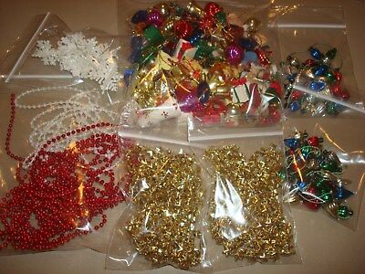 vintage miniature christmas ornaments and garlands for tiny tree crafts decor
