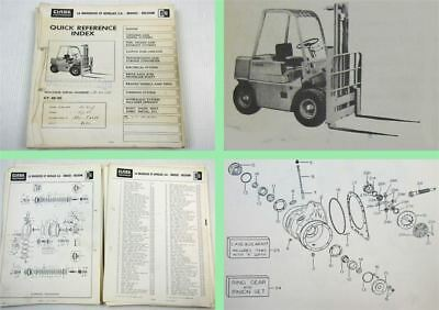 Clark CY40 CY50 Fork Lift Truck Spare Parts List Parts Book 1960s