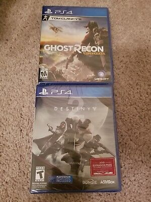 Lot of PS4 Games Tom Clancy's Ghost Recon Wildlands & Destiny 2 New