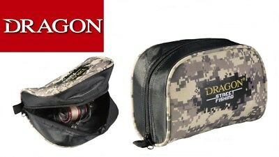 Dragon Street Fishing reel case.Fishing reel pouch. 19x19x14cm. camo,pike,zed